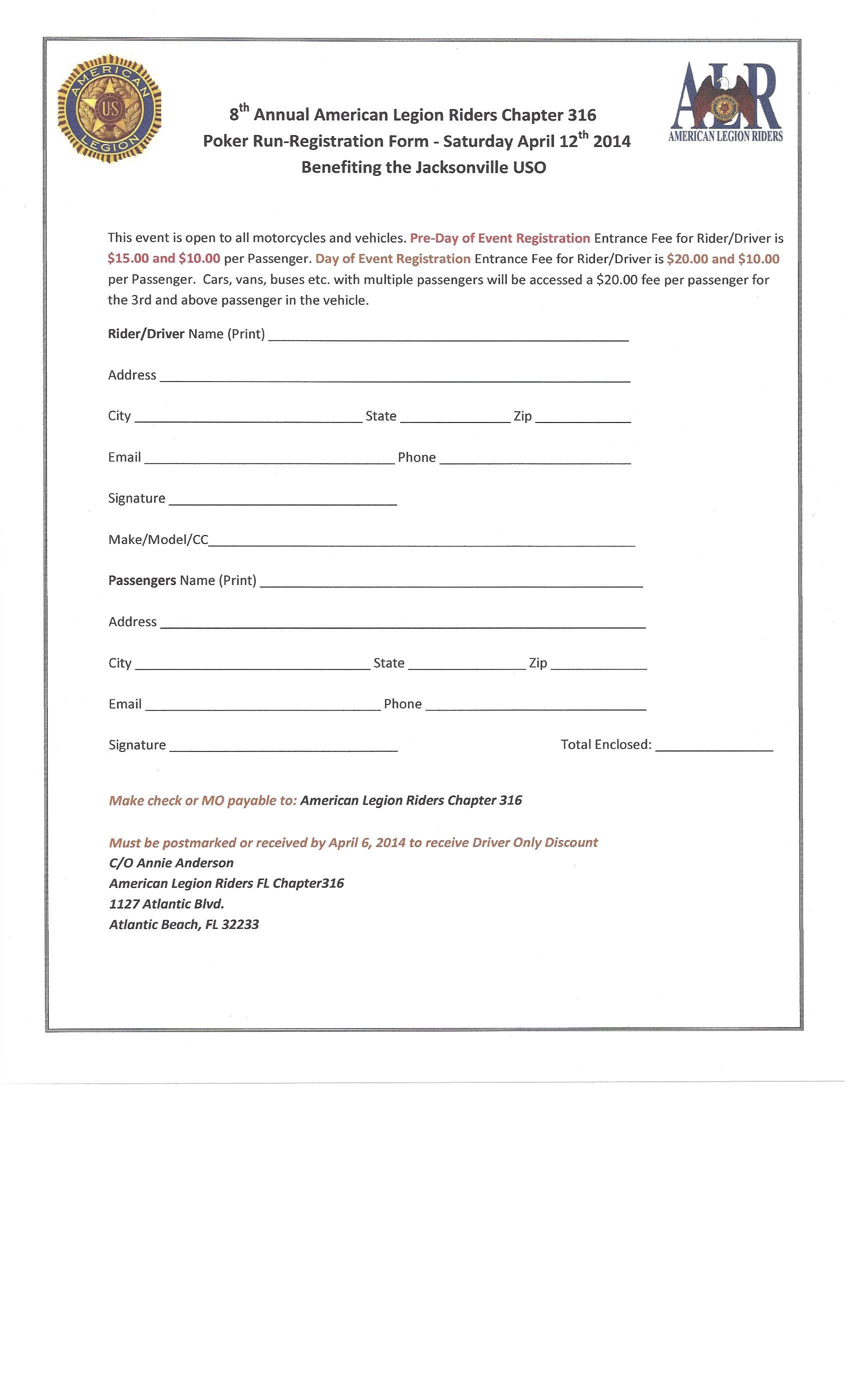 Poker run registration form online casino portal poker run registration walkertown civic club maxwellsz